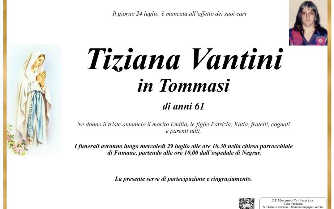 Vantini Tiziana in Tommasi