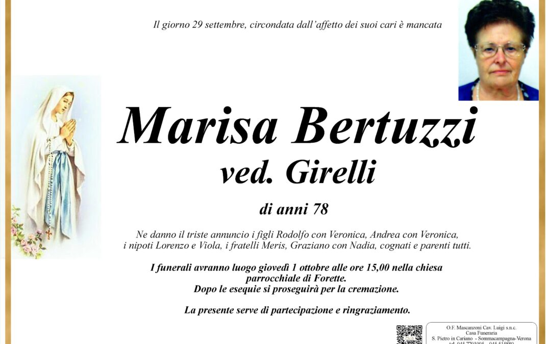 BERTUZZI MARISA VED GIRELLI