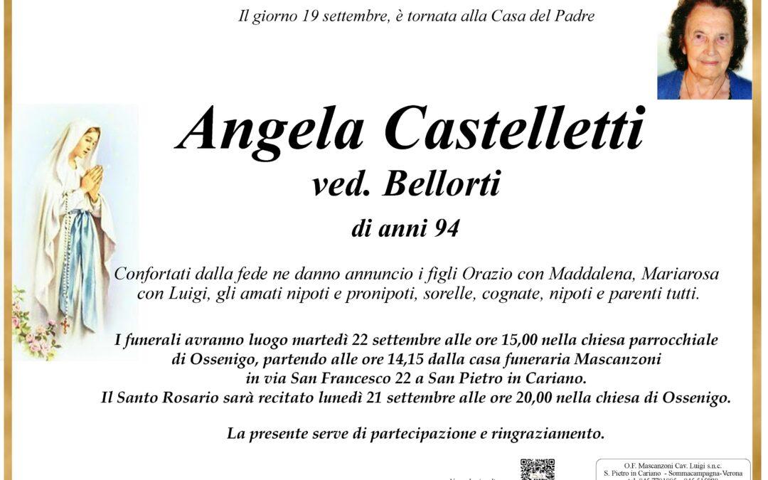 CASTELLETTI ANGELA VED. BELLORTI