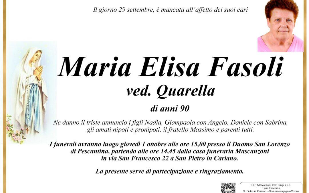 FASOLI MARIA ELISA VED. QUARELLA