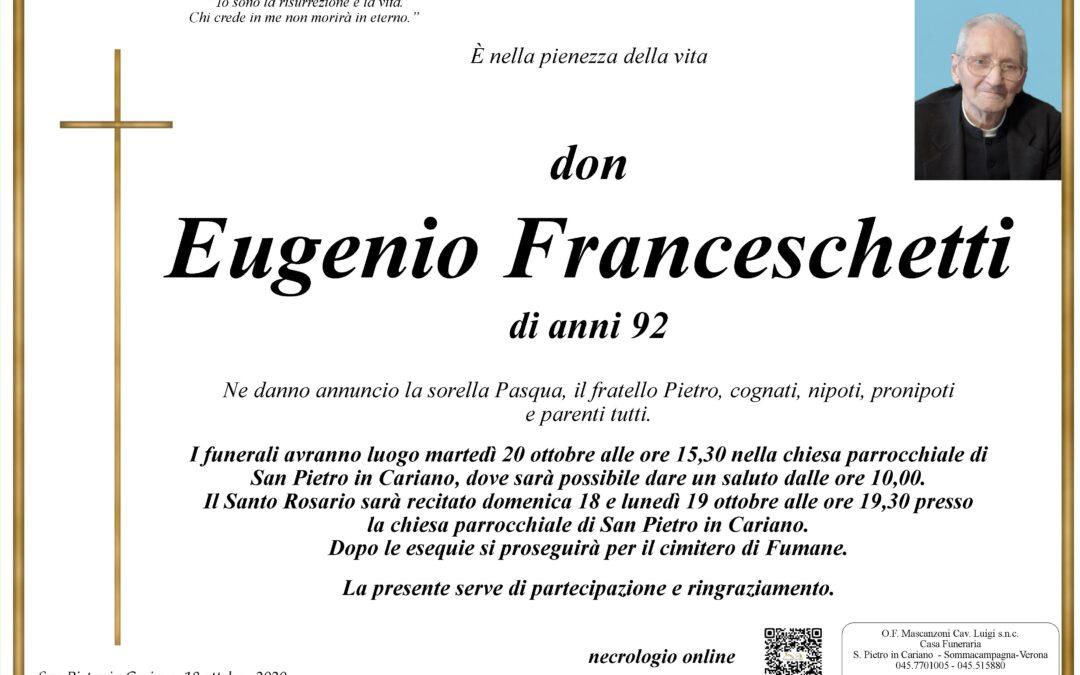 DON EUGENIO FRANCESCHETTI