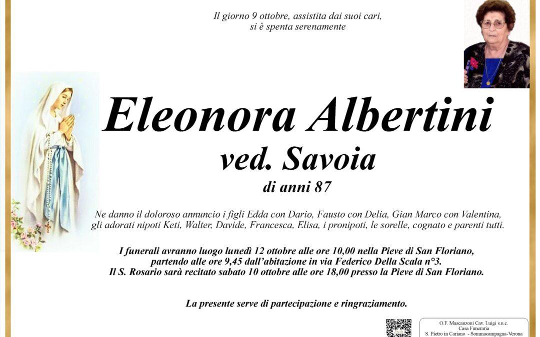 ALBERTINI ELEONORA VED SAVOIA