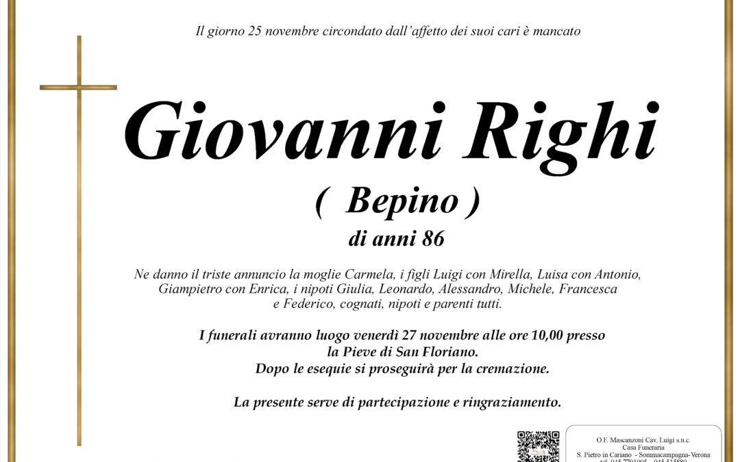 RIGHI GIOVANNI ( BEPINO )