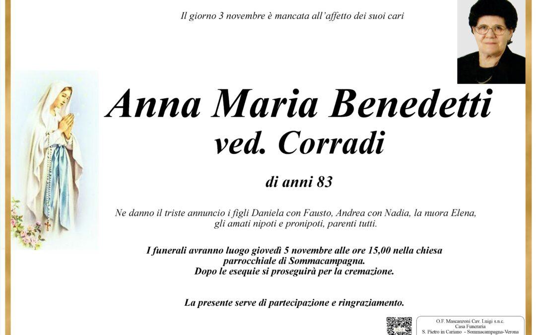 BENEDETTI ANNA MARIA VED. CORRADI