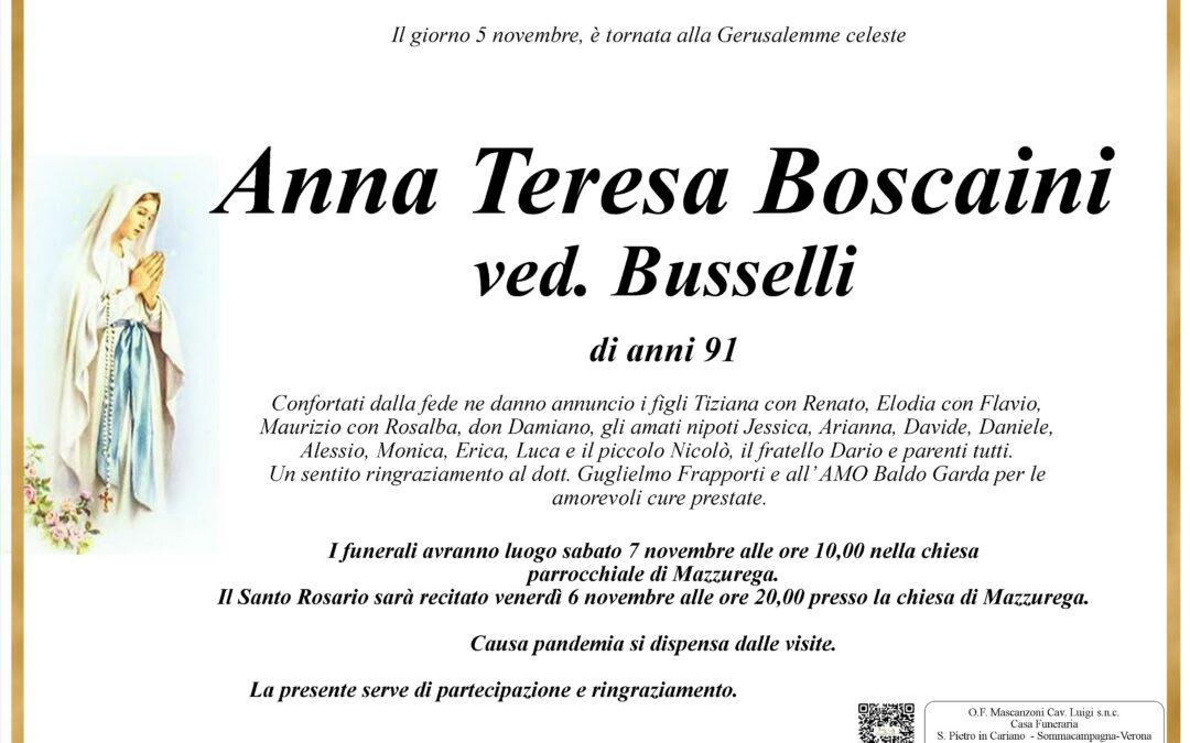 BOSCAINI ANNA TERESA VED. BUSSELLE