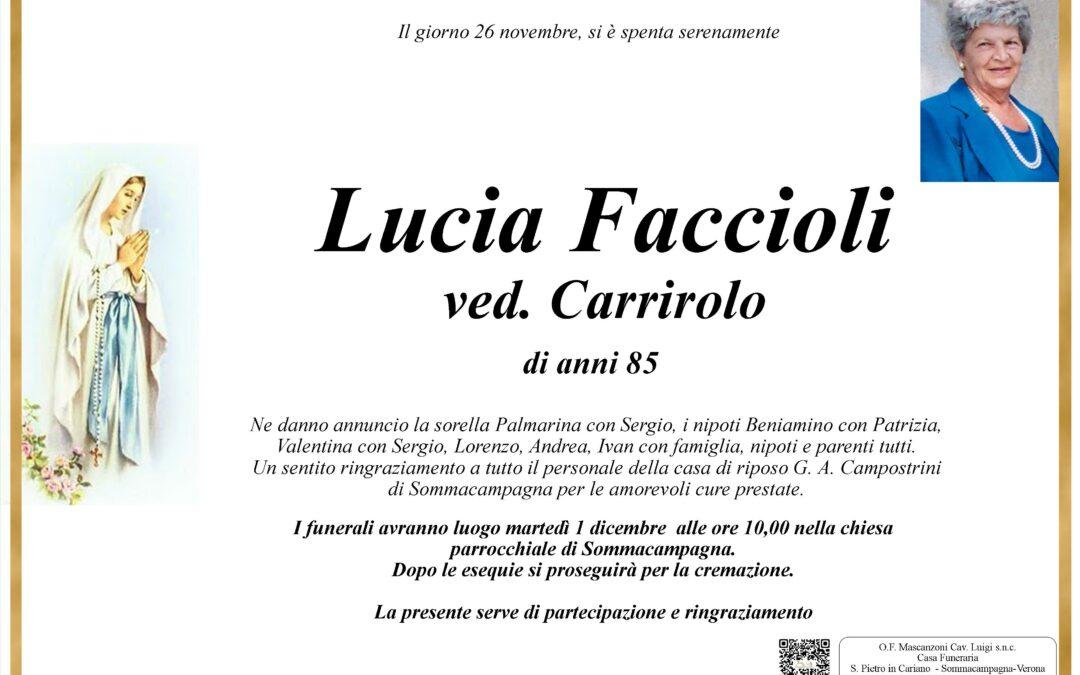 LUCIA FACCIOLI VED CARRIROLO