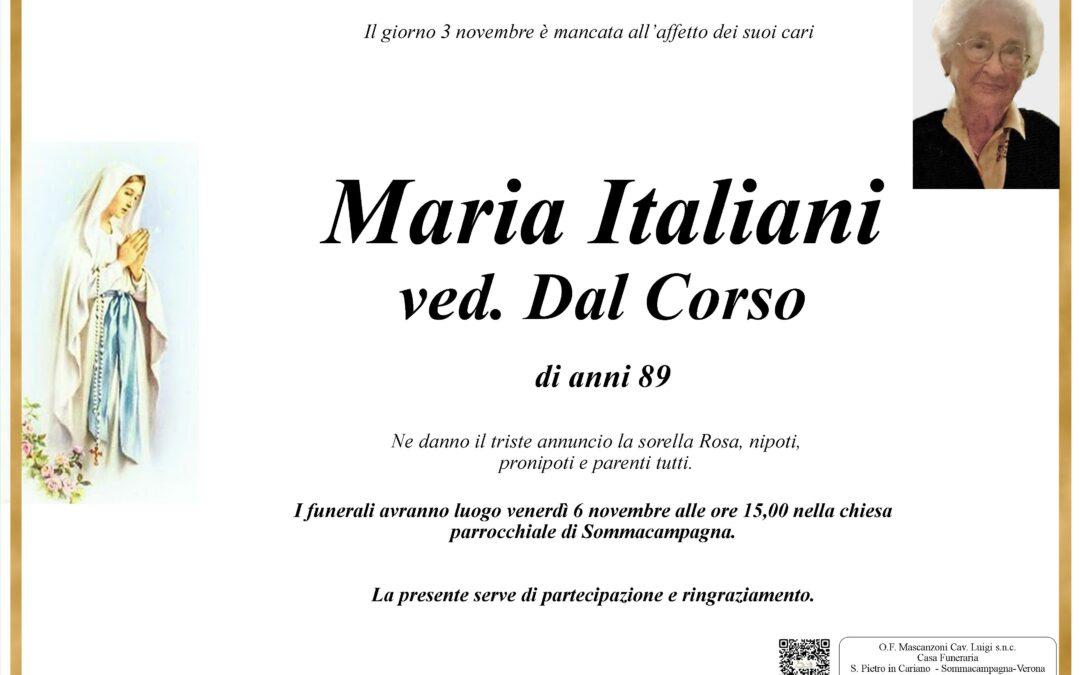 ITALIANI MARIA VED. DAL CORSO