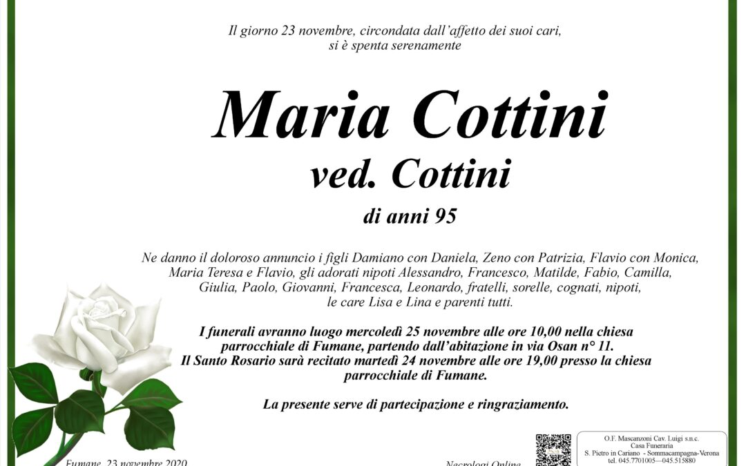 COTTINI MARIA VED. COTTINI